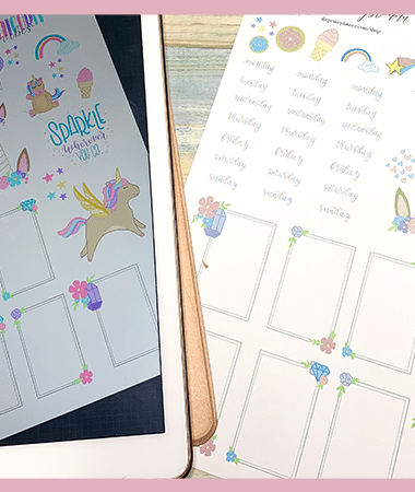 Free Printable Unicorn Stickers for Your Planner