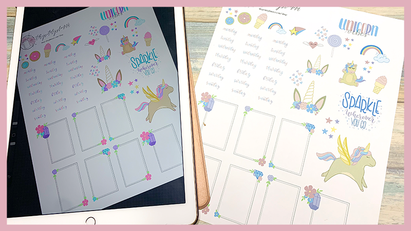 Free Printable Unicorn Stickers for Your Bullet Journal or Happy Planner