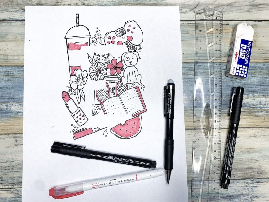 Learn to Doodle for Beginners: Online Course with step-by-step video instruction