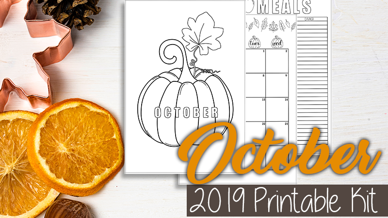 October 2019 Bullet Journal Setup Printable