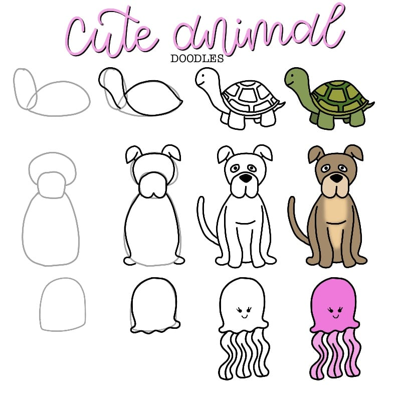 Cute and Easy Animal Doodles