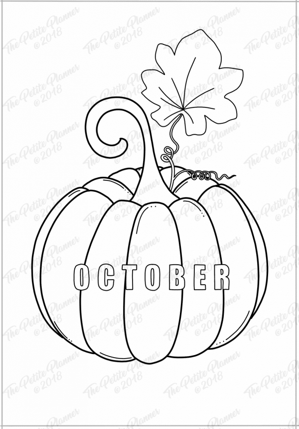 October Bullet Journal Cover Page Printable