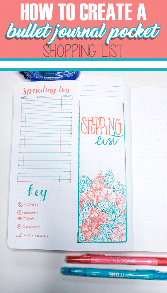 How to Create a Bullet Journal Pocket Shopping List