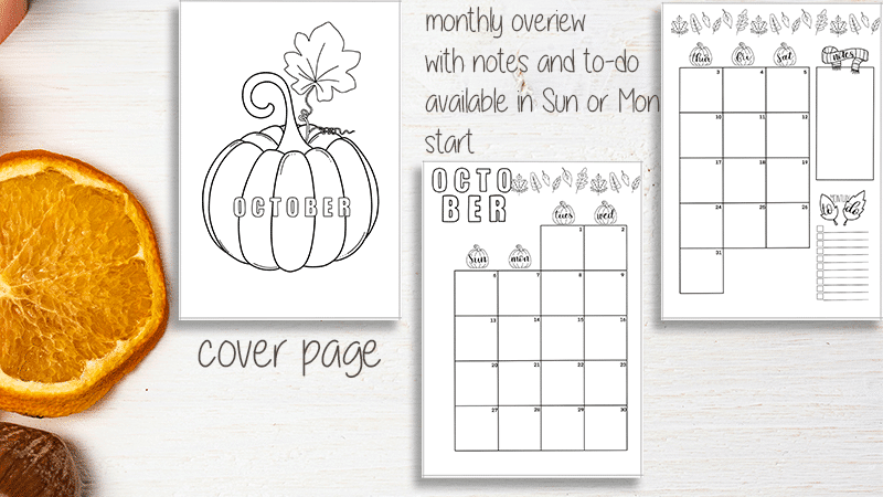 October Printable Bullet Journal Setup
