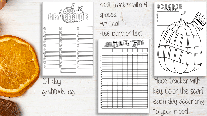October 2019 Printable Planner A5 Size