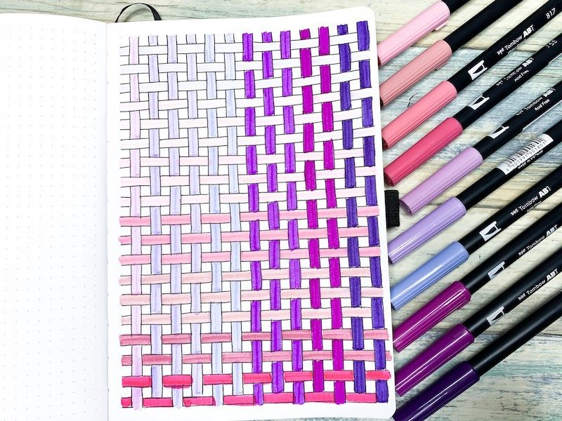 How to Draw a Basket Weave Pattern in your Bullet Journal