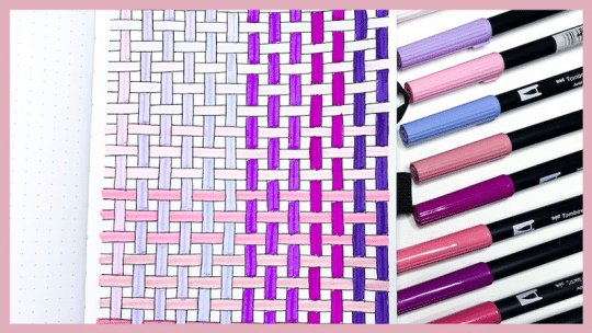 How to Draw a Basket Weave in Your Bullet Journal