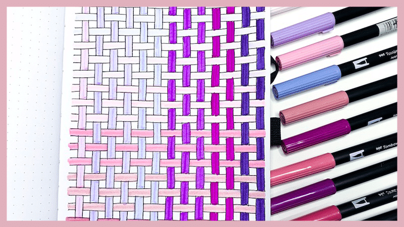 How to Draw a Basket Weave Pattern in Your Bullet Journal: Step by step tutorial