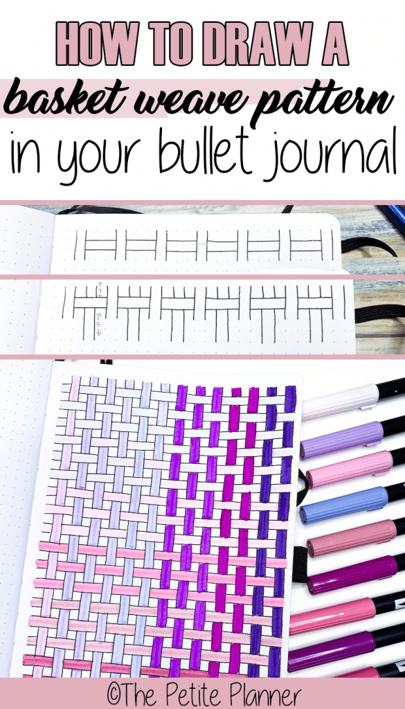 Step-by-Step Basket Weave Pattern Tutorial in your Bullet Journal