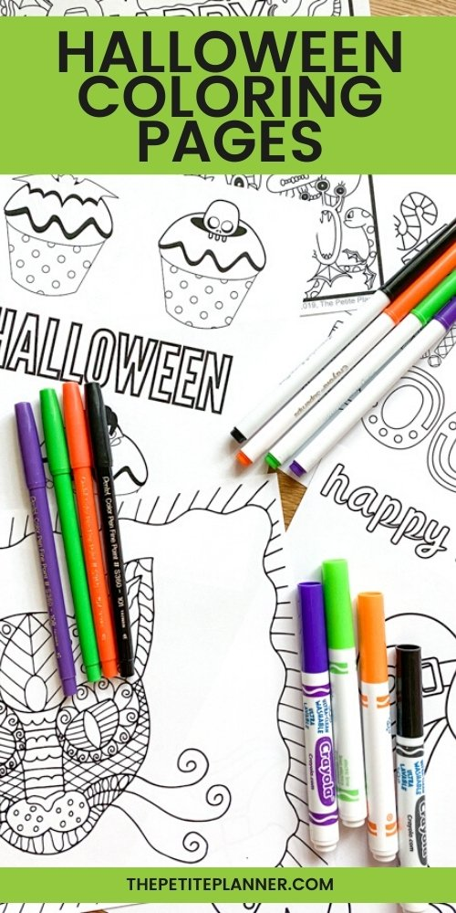 31 FREE Halloween Coloring Pages For Adults & Kids! DOWNLOAD NOW!