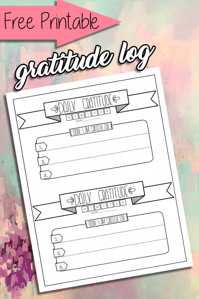 Free Printable Gratitude Log