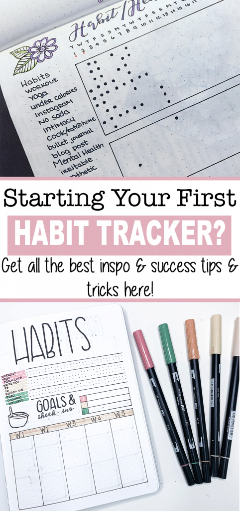 New to Bullet Journaling in 2020? Check out this post on exactly how to set up a habit tracker that works for you, as well as success tips, layout inspo, etc.