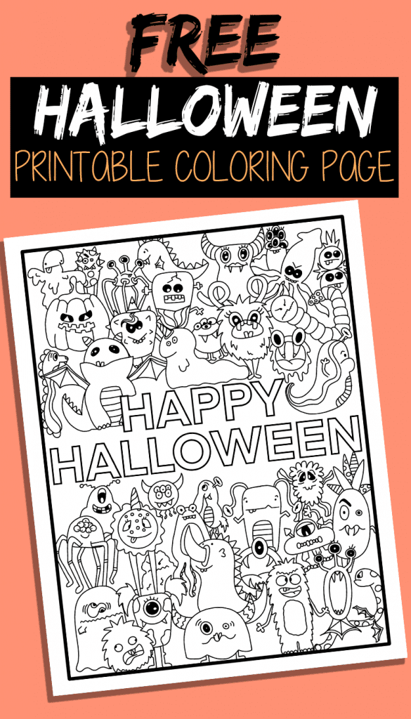 Free Halloween Coloring Page Printable