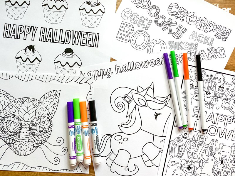 - 31 FREE Halloween Coloring Pages For Adults & Kids! DOWNLOAD NOW!