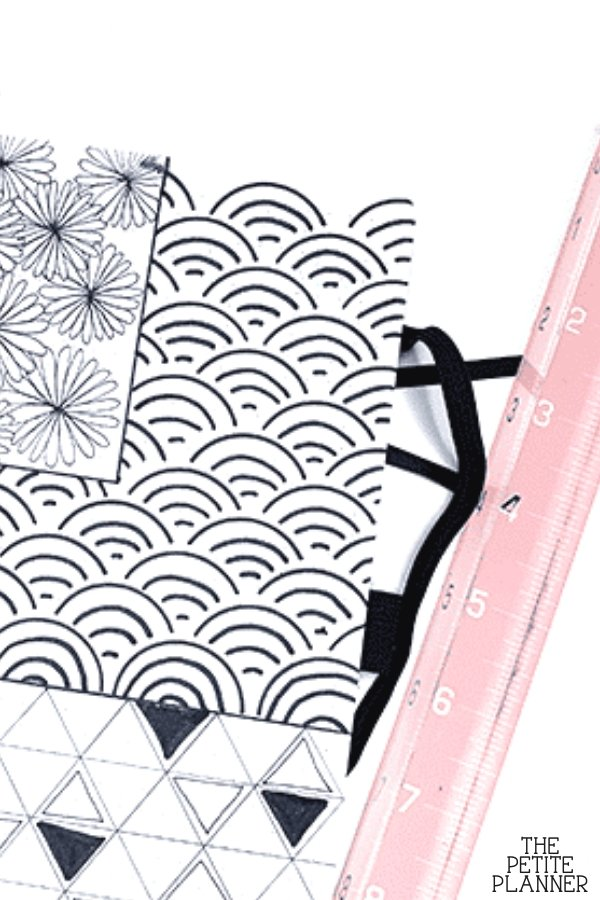 Examples of patterns to draw in bullet journal and planners