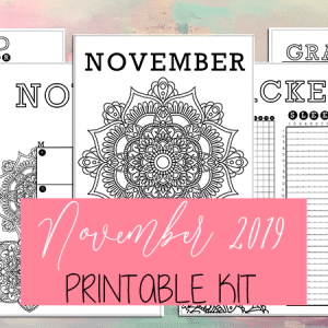 November 2019 Printable Bullet Journal Kit