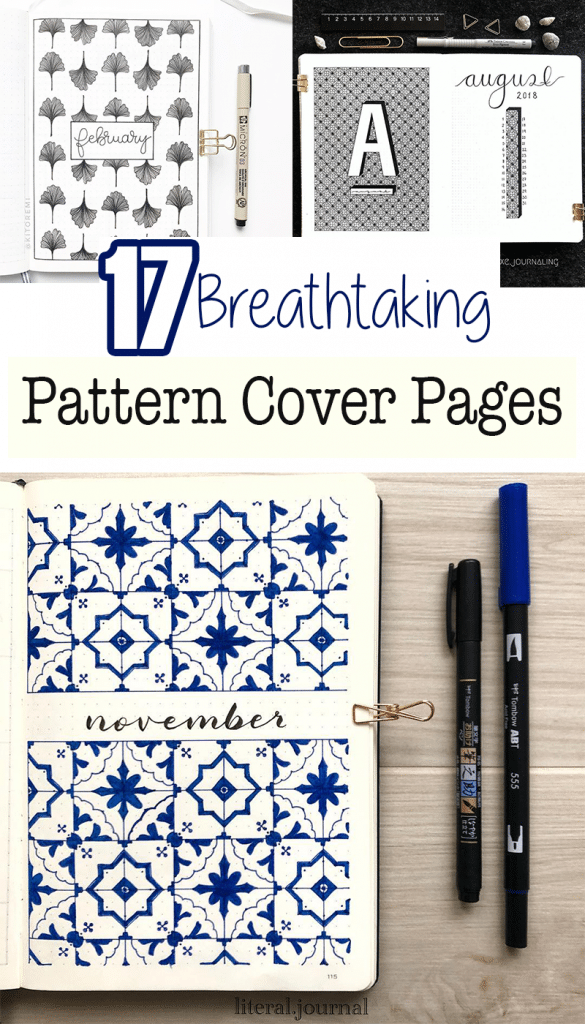 17 Beautiful Pattern Cover Page Ideas for Your Bullet Journal