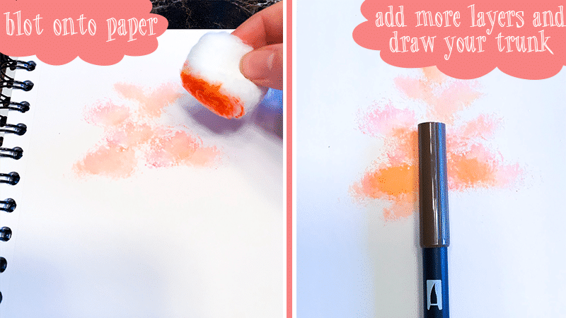 Continue adding layers of watercolor to your tree