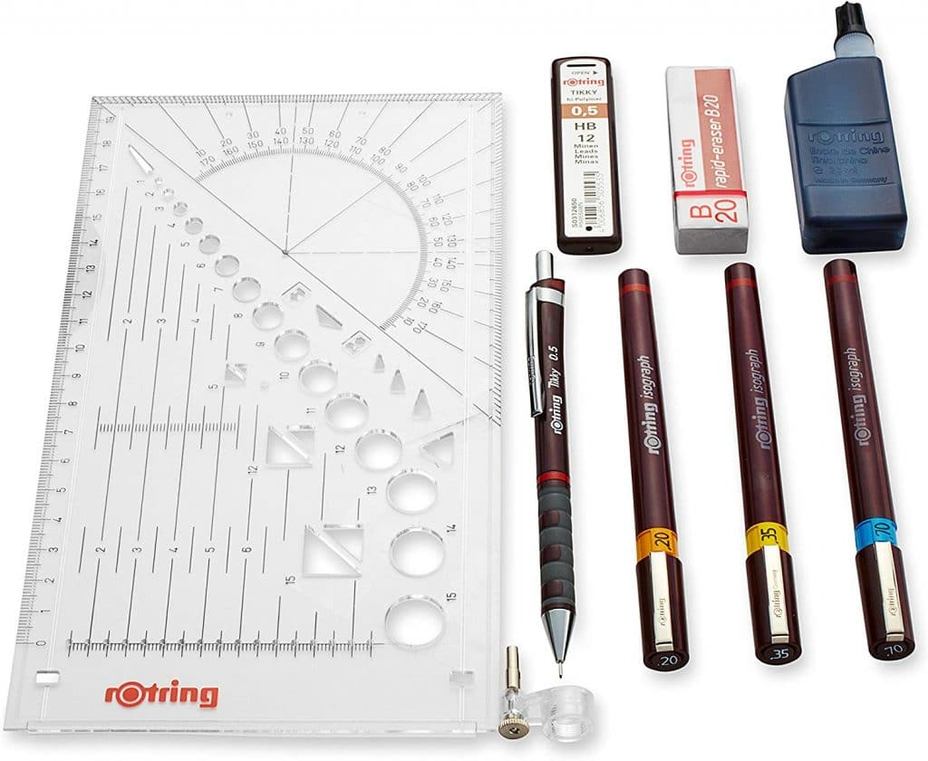 rOtring isograph gift set for the artist