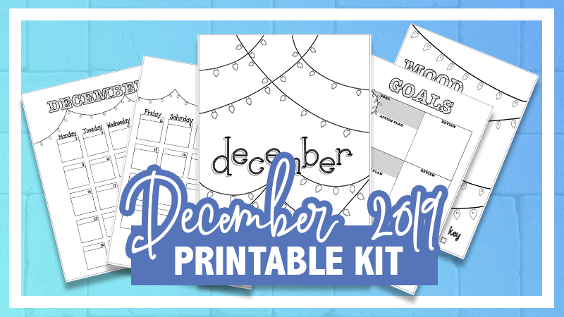 December Bullet Journal Printable