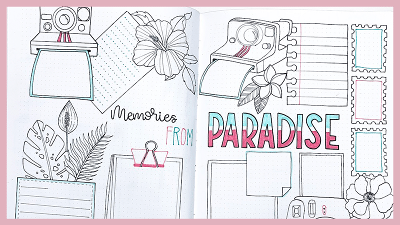 5 Travel Planning Spreads for Your Bullet Journal Plus Free Printables