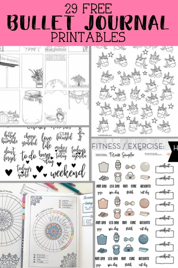 It is a photo of Superb Free Bullet Journal Printables 2020 Pdf
