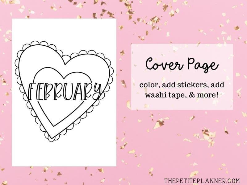 February Printable Cover Page