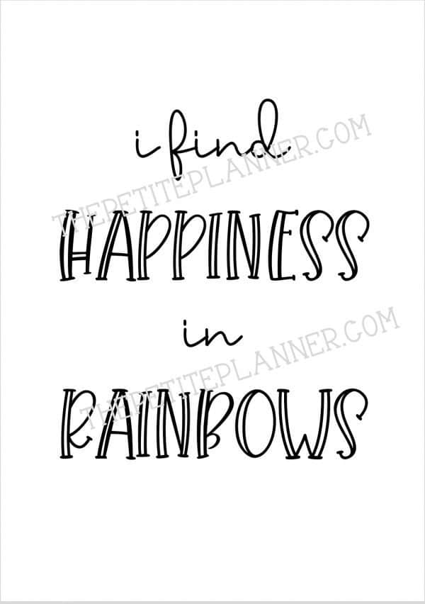 I Find Happiness in Rainbows Quote Page
