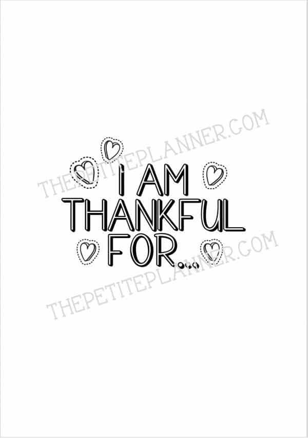 March Gratitude Log
