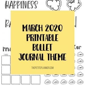Printable March Bullet Journal Theme