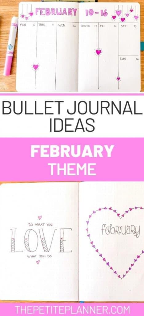 February Bullet Journal Theme Ideas