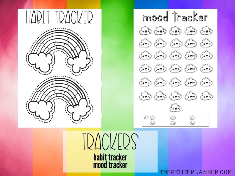 Printable Habit Tracker and Mood Tracker for March
