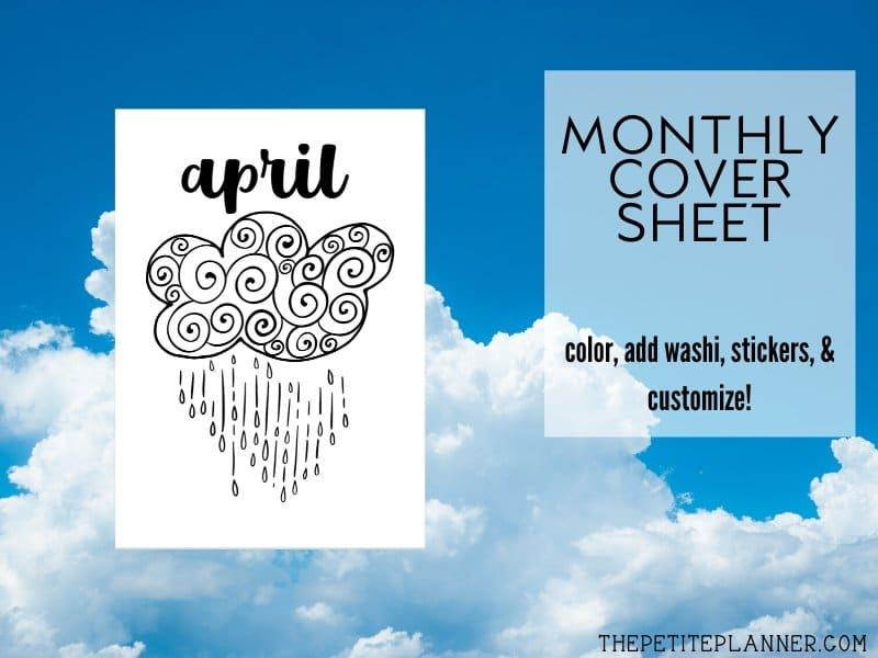 April Bullet Journal Printable Pack