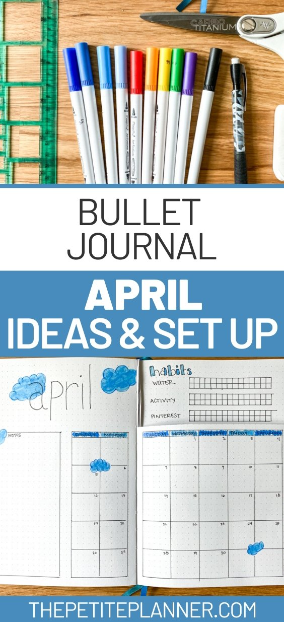April Bullet Journal Ideas and Plan with Me Set Up