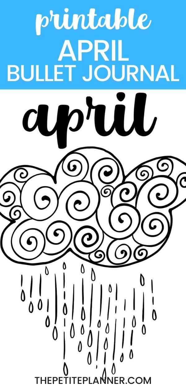 Printable April Bullet Journal Theme