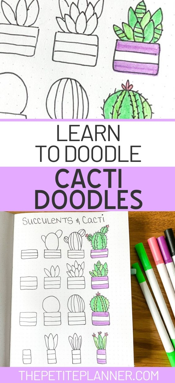 Learn to Draw Cacti Doodles Tutorial