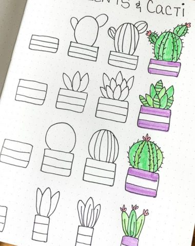 Step by Step How to Draw Cute Cacti Doodles