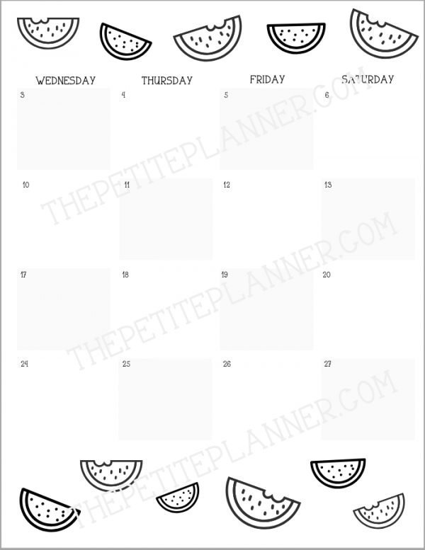 June Bullet Journal Printable Theme Product Image