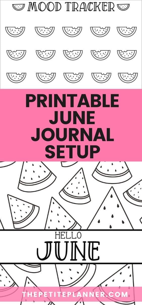 Printable June Bullet Journal Theme