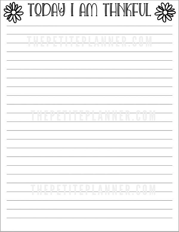 Watermarked copy of printable gratitude log