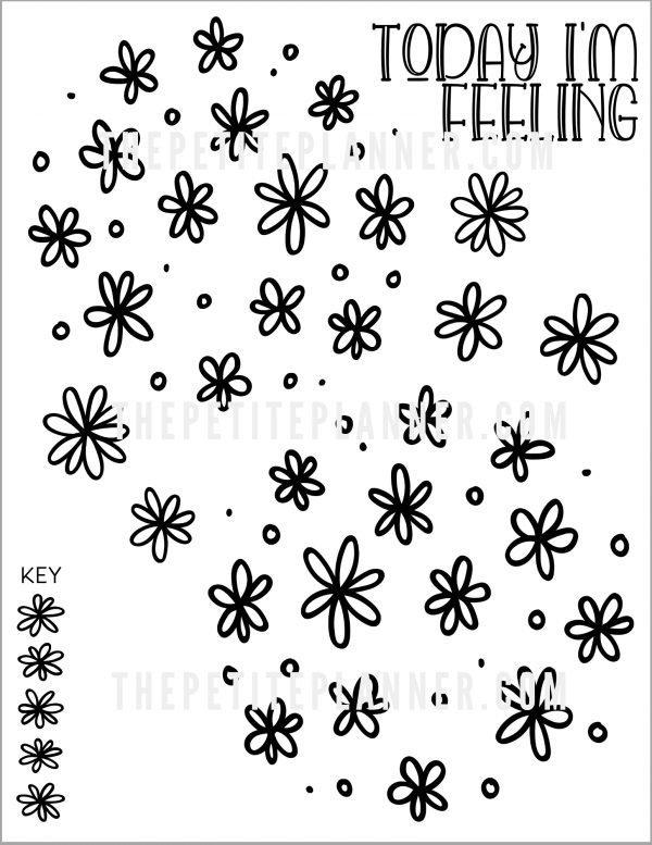 Watermarked copy of daisy themed mood tracker