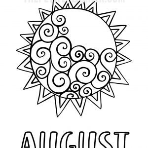 August Bullet Journal Printable