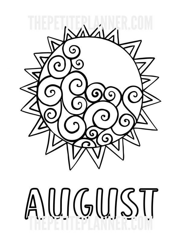 August Bullet Journal Printable
