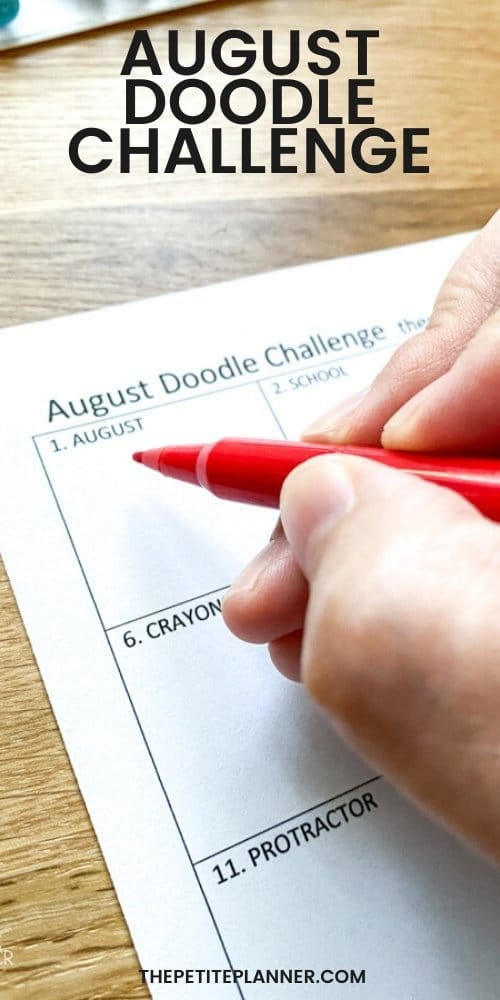 August Doodle Challenge with Free Printable