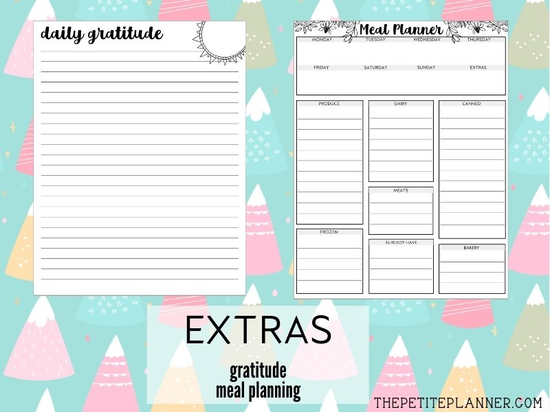 August Printable Journal Theme Pages