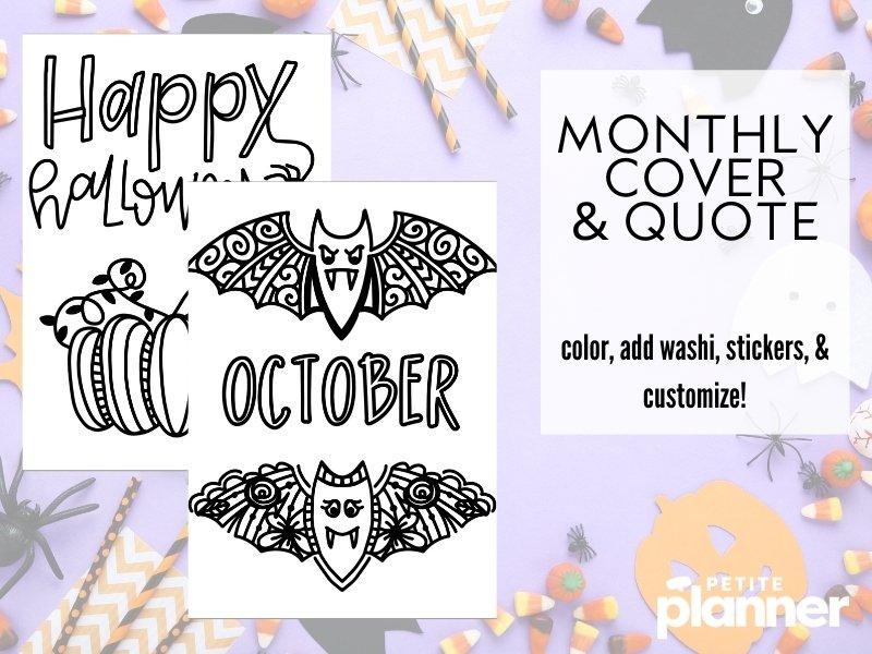 Halloween Bullet Journal Printable