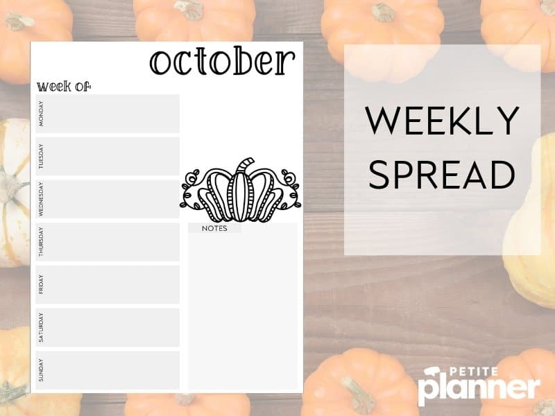 October Bullet Journal Printable