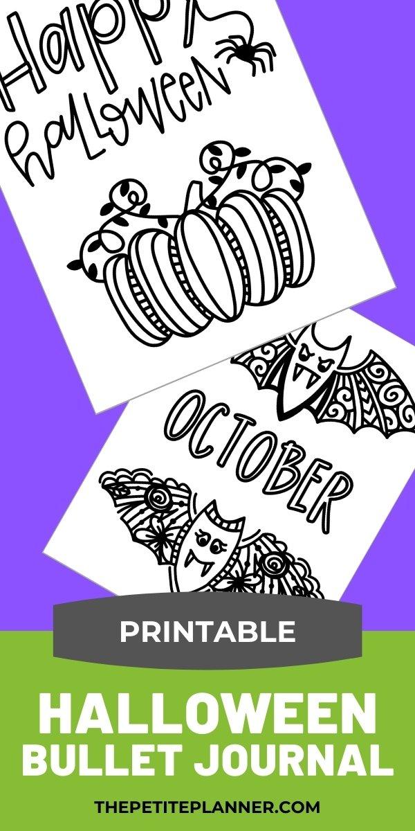 Printable Halloween Bullet Journal