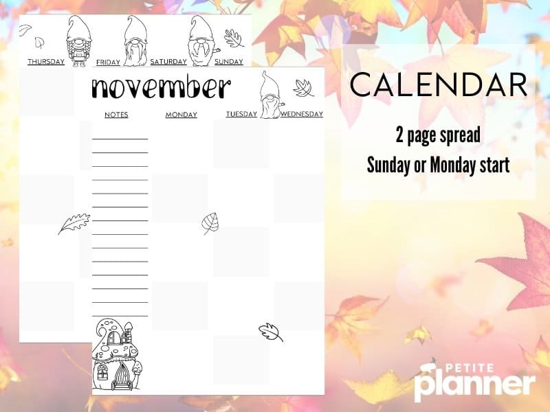 Printable Bullet Journal Gnome Theme