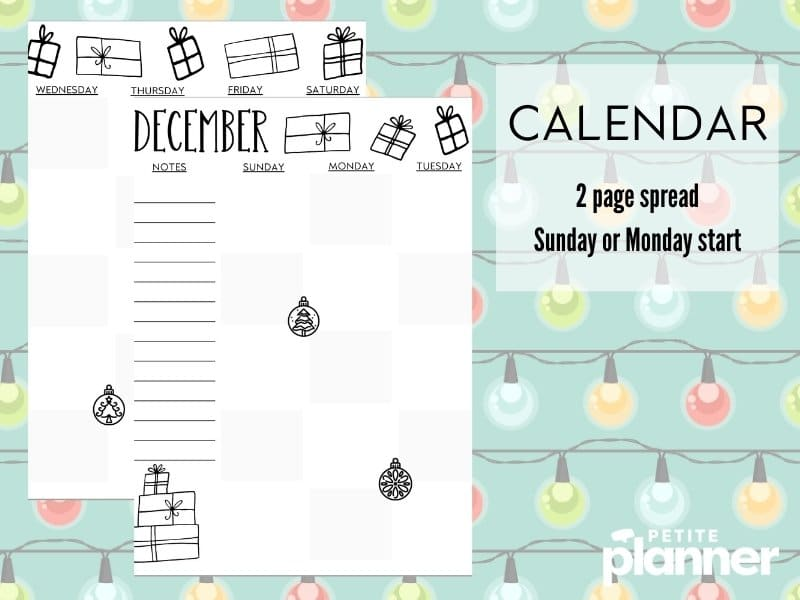 December Bullet Journal Ideas